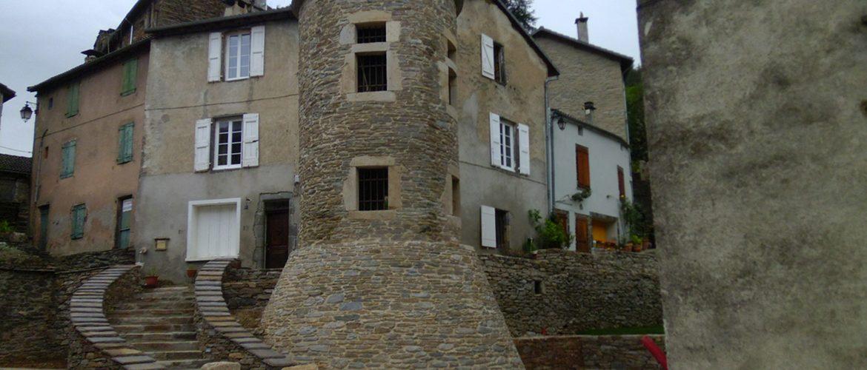 vue de la tour du village de Saint André de Valborgne